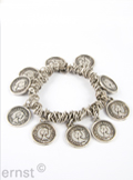 elastic bracelet with  coin-pendants