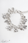 18cm bracelet with dangling metal parts, with 6cm , nickel tested